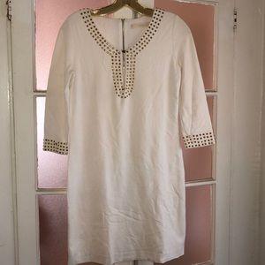 Ivory & Gold ✨ Keyhole Dress